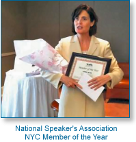 National Speaker's Association NYC Membver of the Year